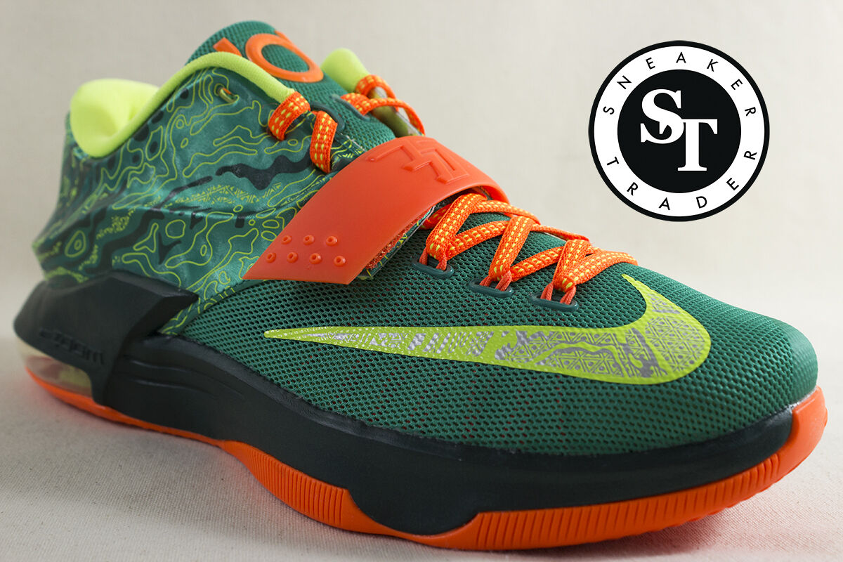 NIKE KD VII 7 653996-303 KEVIN DURANT WEATHERMAN EMERALD GREEN DS SZ: 12 / 12.5