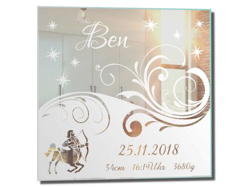 Motivspiegel Baby Geburt Schütze ★ Geschenk ★ Taufe ★ Sternzeichen ★ Geburtstag