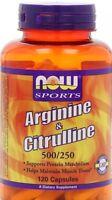 Now Foods, Arginine & Citrulline, 500/250, 120 Caps Fast Shipping