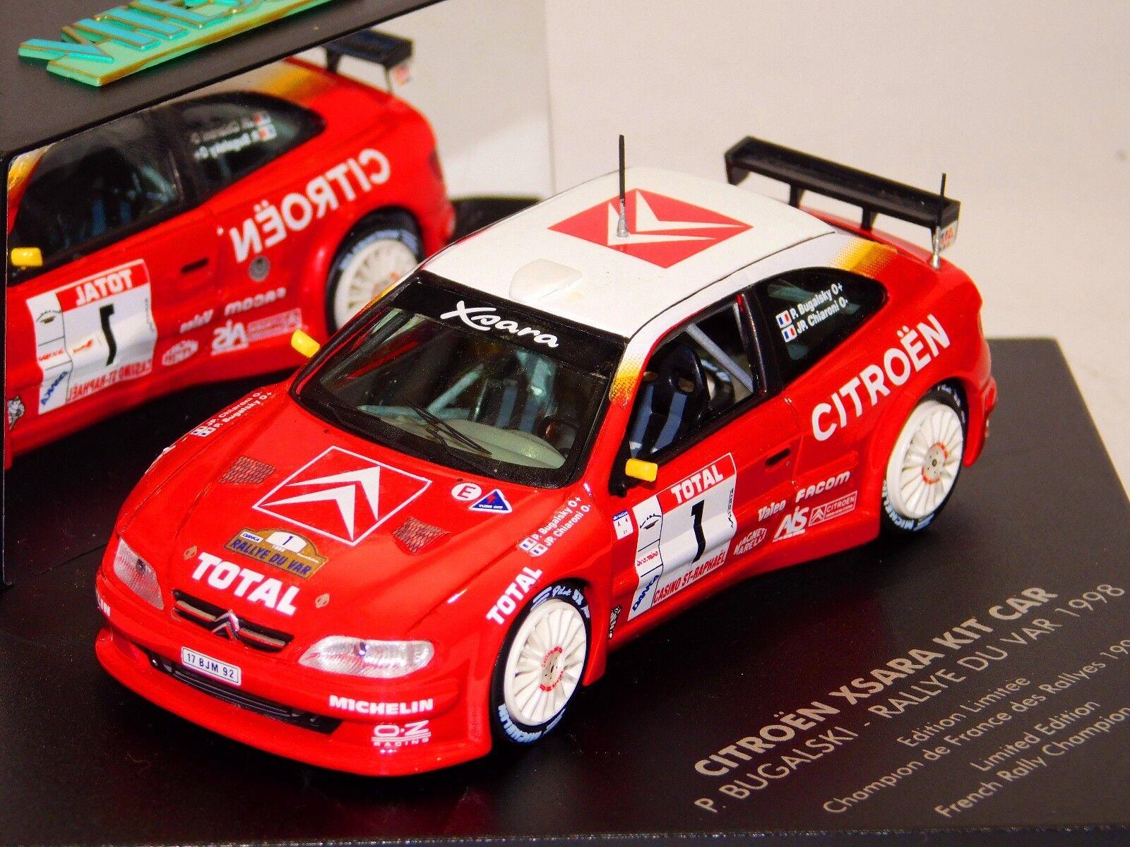 el mas de moda CITROEN Xsara Kit Coche  1 Rally du Var Var Var 1998 campeón de Bugalski Skid V98208 1 43  descuento