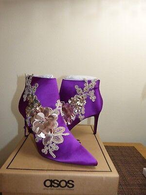 Boots Ankle Elegance US size ASOS 8 NWB Embellished Pointed wznIA