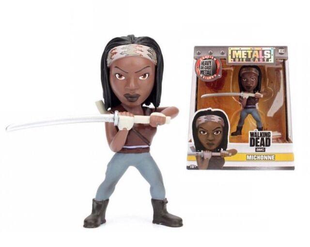 The Walking Dead Michonne 10.2cm Metalle Druckgegossen Figur Neu Jada M183