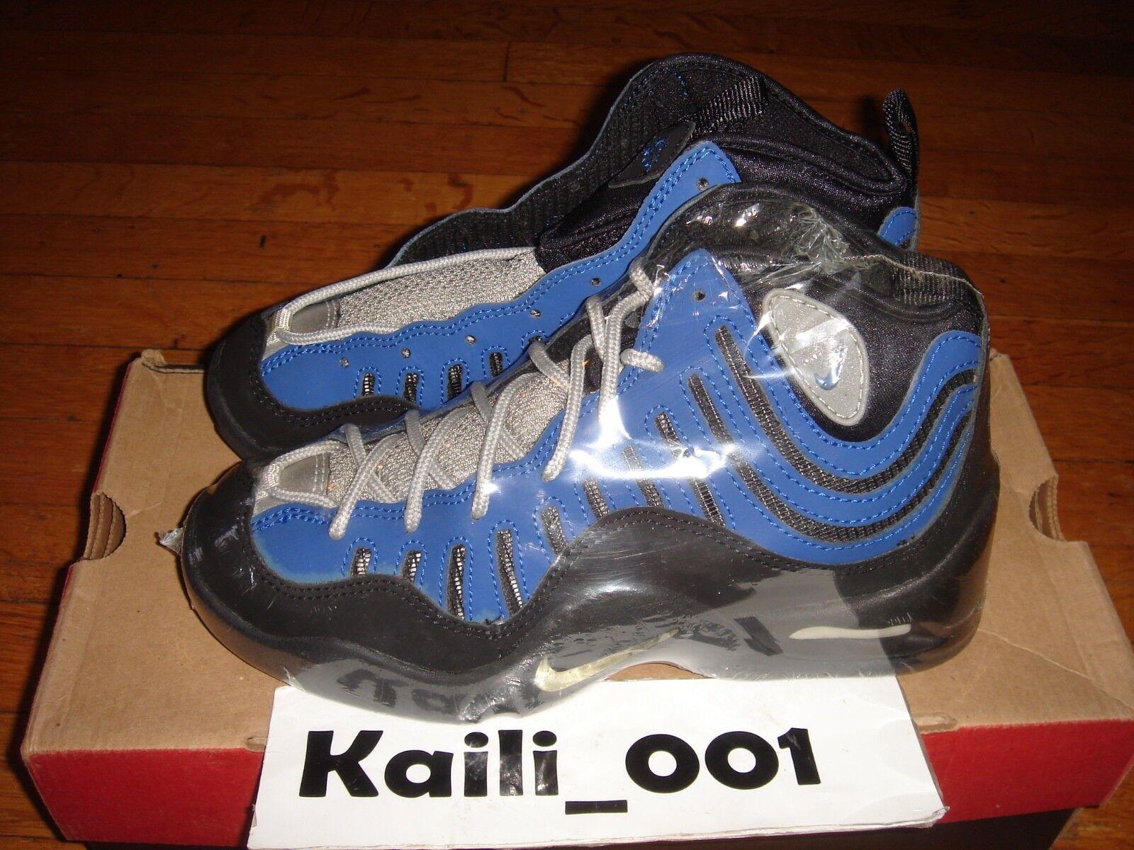 Químico Destilar cielo  Nike Air Bakin OG Tim Hardaway Blue Vintage 1997 Release 153304 441 GS Size  6 for sale online | eBay