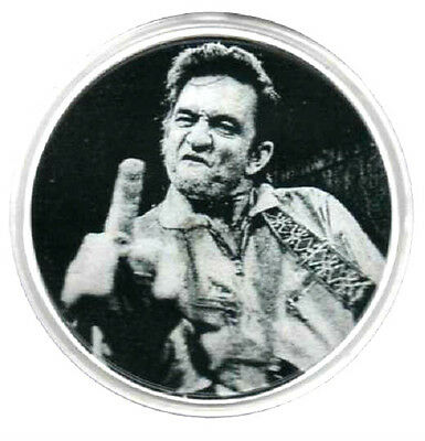 JOHNNY CASH  DRINKS COASTER.  Rock'n'Roll,  Rockabilly, Country.