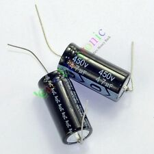 5pc 450V 47uf 105C New long copper leads Axial Electrolytic Capacitor audio amps