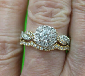 1810fe796 NEIL LANE Vintage-Inspired 14k White Gold & Rose Gold Diamond ...