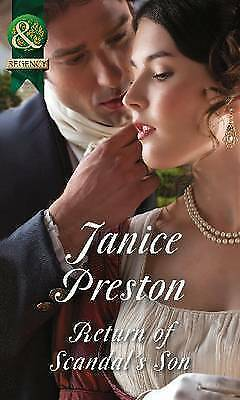 """1 of 1 - """"VERY GOOD"""" Return Of Scandal's Son (Men About Town, Book 1) (Historical), Prest"""