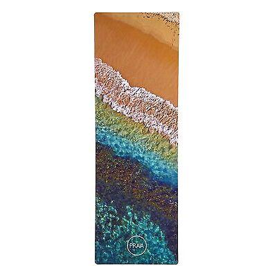 PRAIA - Designer Natural Rubber Yoga Mat - RAINBOW OCEAN - Pilates, Gym