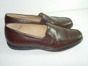 WOMENS-BROWN-LEATHER-SUDINI-COMFORT-LOAFERS-CAREER-CASUAL-HEELS-SHOES-SIZE-7-M