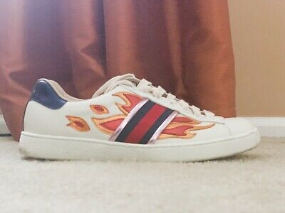 Gucci Flames Sneakers Size 8.5 | eBay