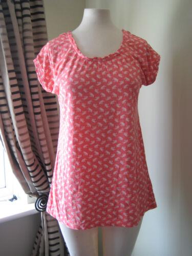 Mesdames fat face palm print top taille 10 12 14 laced crochet de retour