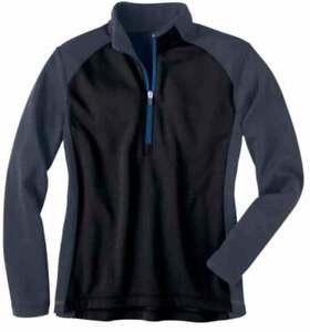 River-039-s-End-Half-Zip-Microfleece-Layering-Jacket-Athletic-Outerwear-Black