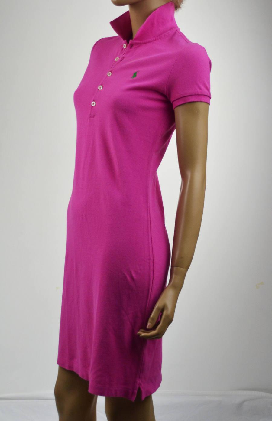 Ralph Lauren Fushia Rosa Polo Dress Grün  Pony -XSmall -NWT