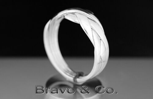 Size 9 Hallmark 925 Solid Sterling Silver New 4 pieces PUZZLE Ring 4R-364