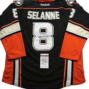 TEEMU-SELANNE-Anaheim-Ducks-SIGNED-RBK-JERSEY-w-COA-JSA-Autographed