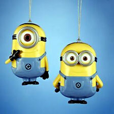 DESPICABLE ME DAVE CARL minions SET of 2 CHRISTMAS ORNAMENT new w tags