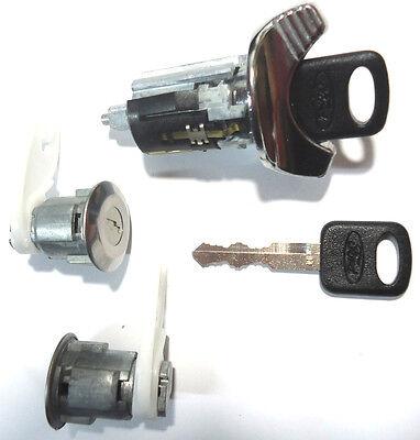 Dodge Ignition Switch Lock Cylinder Pair Door Lock Cylinder W//2 Logo Keys