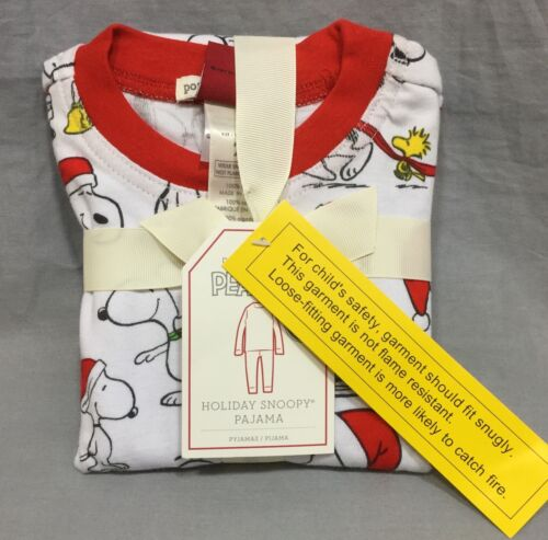 Pottery Barn Kids Holiday Snoopy Tight Fit Pajamas Size 2T