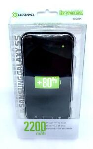 Lenmar-Samsung-Galaxy-S5-Pulsar-2200mah-Power-Case-Black-New