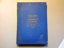 Blue Book Of American Shipping: Comprehensive Scarce Original Book 1906