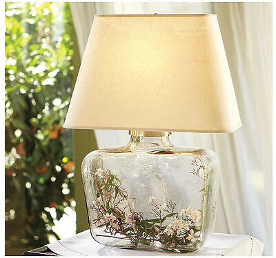 Elegant European Country Transparent  Glass Bedside Desk Table Lamp DIY  Style A