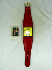 Cool 70´s design EUROPA Wanduhr im Armbanduhr Design Weckfunktion alarm clock