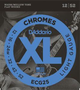 D-039-Addario-ECG25-Chromes-Flat-Wound-Light-12-52-Guitar-Strings