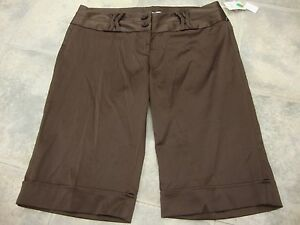 NWT Womens jrs CHARLOTTE RUSSE brown shorts, 9