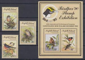 Objectif Île Norfolk-michel-nº 490-492 + Bloc 13 Cachet/** (oiseaux/birds) Les Clients D'Abord