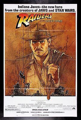 "MHPO Raiders of Lost Ark Original Giant Italian Movie Poster 40/""x52/"" Folded"