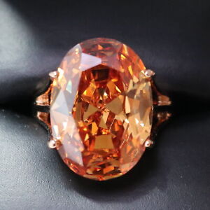 3-5-Ct-Oval-Orange-Citrine-Solitaire-Ring-Women-Wedding-Jewelry-14K-Gold-Plated