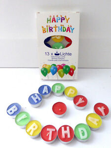 Teelichte Happy Birthday 6 St/ück