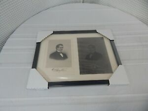 Rare! Steel Print Press Plate and Photo of David A. Brayton of   Fall River MA.