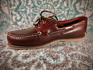 Timberland-Icon-2-EYE-Classic-Boat-Schuhe-Rootbeer-Smooth
