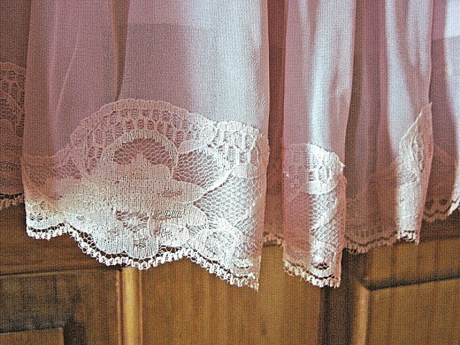 Women's fancy chiffon dress size L dusty rose pink - image 4