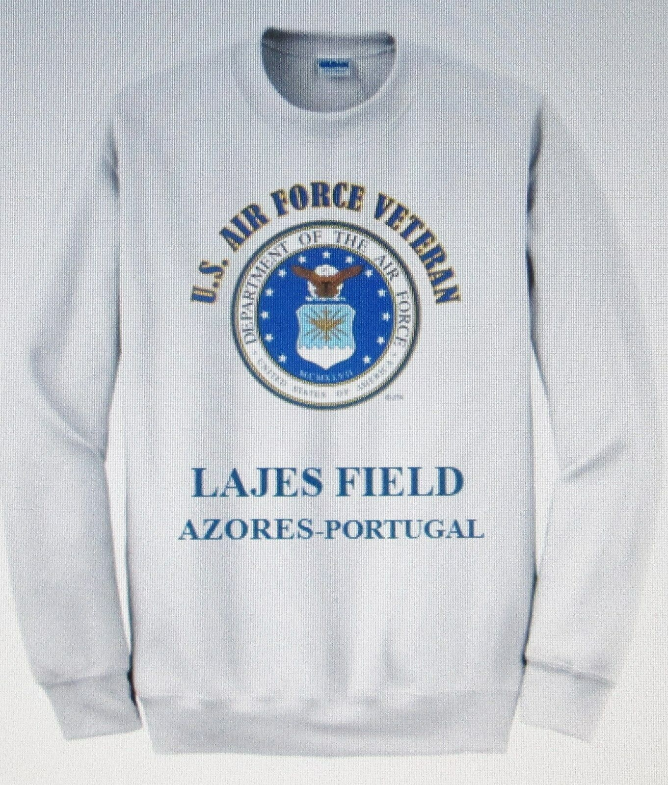 LAJES FIELD AZORES-PORTUGAL U.S. AIR FORCE EMBLEM SWEATSHIRT