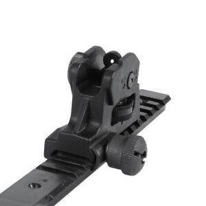 Adjustable-Rear-Iron-Sight-Post-Fixed-Match-Grade-20mm-Picatinny-Rail-Hunting
