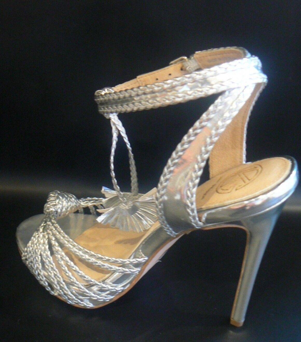KG Kurt Geiger Hoax in Silver High Heel Sandales in Hoax Silver UK Größe 8 /41 9eb017