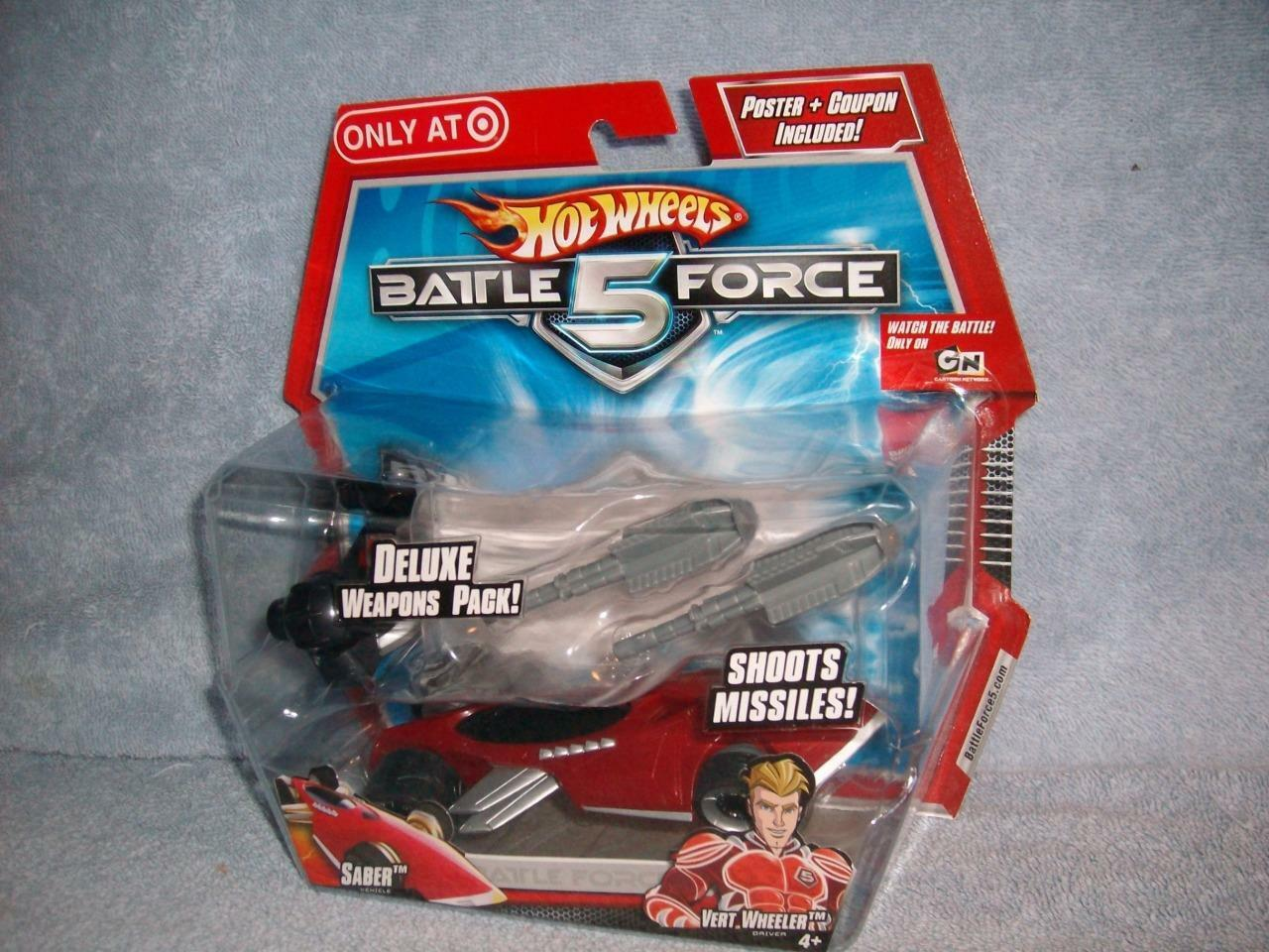Saber verde Wheeler Hot Wheels Battle Force 5 Exclusive Target Weapons 2009 New