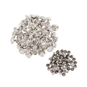 5bb705f0599 Image is loading 50pcs-Rhinestone-Rivets-Studs-Button-for-Clothes-Bracelet-