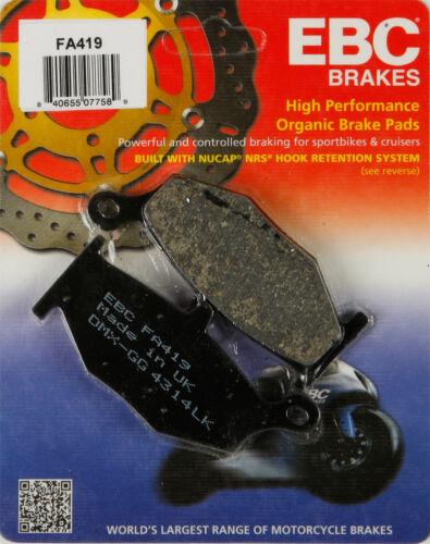 EBC BRAKE PADS FA419 MC Fits Suzuki