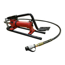 10000 Psi Pneumatic Hydraulic Pump Mf2 Manual Foot Pumper 72 Hose Amp Coupler