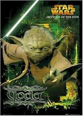 Revenge Of The Sith Movie Poster Yoda Determined 24x36 Star Wars Episode Iii 3 Ebay