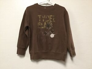 Boy-Graphic-Sweatshirt-Top-Size-4T-Brown-Tybee-Island-GA-Palm-Tree-Moon-35
