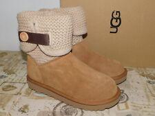 513780c763f Womens Size 8 Chestnut UGG Shaina 1012534 Suede Sheepskin BOOTS Knit ...