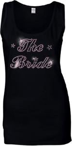 Rhinestone ANY SIZE THE Bride Ladies PINK Crystal Vest Wedding Hen Night