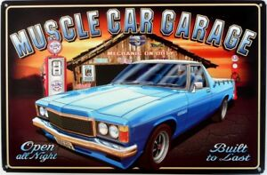 HOLDEN-SANDMAN-UTE-MUSCLE-CAR-GARAGE-Auto-Memorabilia-Metal-tin-Sign