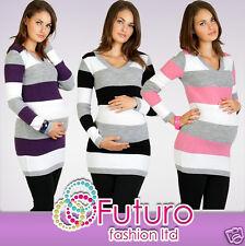 Women's Maternity Jumper Extremely Soft Tunic Style V-Neck Cardigan FR01