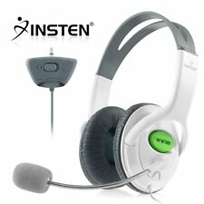 White Headset Headphone w/mic for Xbox 360 Live Elite Slim Wireless Controller