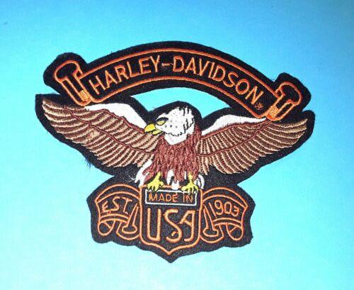 zum Nähen 15 cm x 11,5 cm Patch für Harley Davidson® Neuwertig